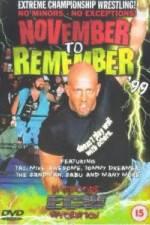 Watch ECW - November To Remember '99 Online Putlocker